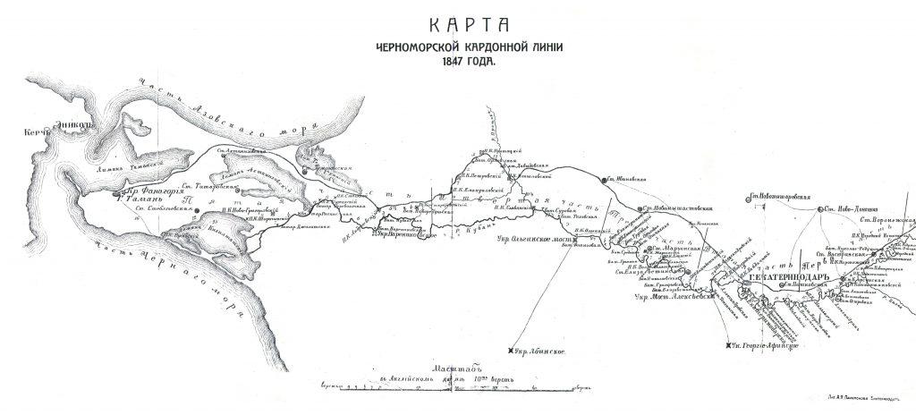 карта кордонной линии