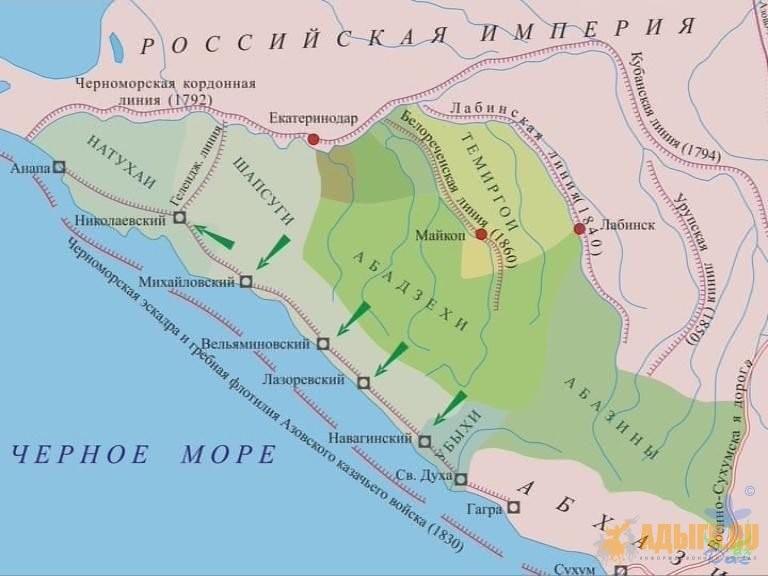карта укреплений